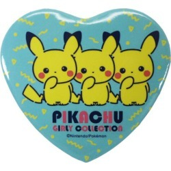 To canned Pikachu logo Pokemon badge Pocket Monster Small planet 5.5cm petit gift teens miscellaneous goods mail order marshmallow pop 10/29