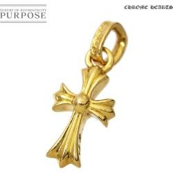 Chromic Hertz Chrome Hearts baby fat cross pendant charm 22K K22 YG is 22-karat gold