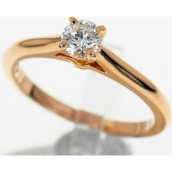 Cartier Cartier diamond (D0.26ct E-IF-Ex) 1895 sled tail ring 750 K18 PG pink gold Japan size approximately ten #50 GIA appraisal ring Lady's 29921223