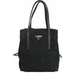 PRADA (Prada) tote bag black black nylon X leather netshop