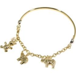 Star jewelry animal motif charm bangle bracelet /K18YG/750-11.0g/ yellow gold /STAR JEWELRY ■ 301003 belonging to