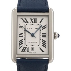 Cartier CARTIER tank solo XL W5200027 SS/ leather automatic car
