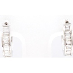 K18 18-karat gold WG white gold pierced earrings diamond used jewelry ★★ giftwrapping for free