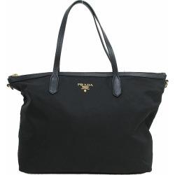 PRADA (Prada) tote bag BR4257 black black nylon X leather netshop