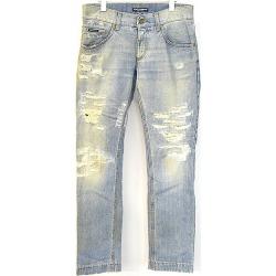 DOLCE & GABBANA Dolce & Gabbana 05AW crash repair processing denim underwear men indigo 46