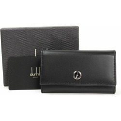 Dunhill six key case black leather 93630