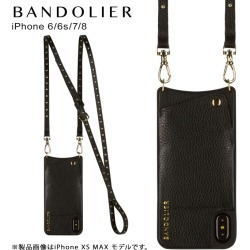 Band re-yeah BANDOLIER iPhone 8 7 6s six cases shoulder smartphone carrying eyephone leather NICOLE GOLD men gap Dis black 10NIC1001