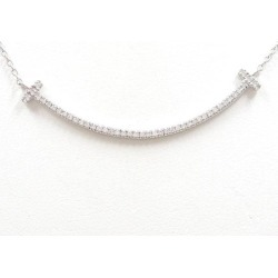 K18 18-karat gold WG white gold necklace diamond 0.16 used jewelry ★★ giftwrapping for free