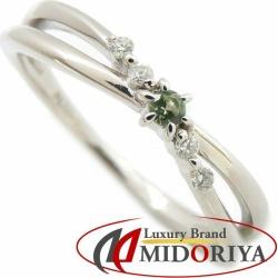 MAISON JEWELL 4 degrees Celsius maison jewel peridot diamond ring K10WG 10 gold white gold 8 ring /091281