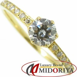 Diamond ring K18YG diamond 0.40ct 12.5 18-karat gold yellow gold ring Lady's jewelry /63487