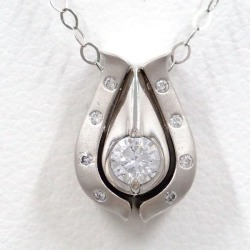 PT900 platinum PT850 necklace black diamond 0.13 diamond 0.200 0.08 appraisal used jewelry ★★ giftwrapping for free