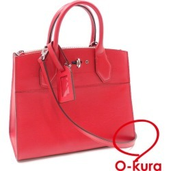 Louis Vuitton handbag city steamer PM Lady's M51030 rouge deep-discount exemption from taxation Louis Vuitton 2WAY shoulder shawl red system red LOUIS VUITTON A6022365