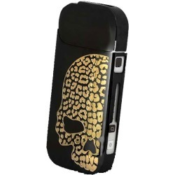 Scull black gold ISP-092-HS-BK made in i-STYLES IQOS Aiko's case Japan