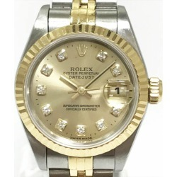 ROLEX (Rolex) date just 69173G SS X YG automatic (self-winding watch) Lady's combination watch netshop