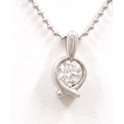 PT900 platinum PT850 necklace diamond 0.39 SI2 appraisal used jewelry ★★ giftwrapping for free