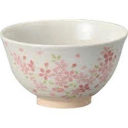Matcha porcelain bowl (Tom) [13 x 7.5cm] full of cherry trees Tea ceremony outdoor tea ceremony Matcha lesson souvenir