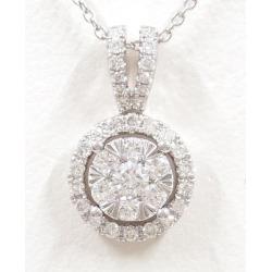 ポンテヴェキオ K18WG necklace diamond 0.47 used jewelry ★★ giftwrapping for free