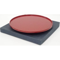 Wajima lacquering technique book honesty coat vermilion lacquer coat round tray [lacquer / tray / tray / low dining table / tray / Japanese dishes]