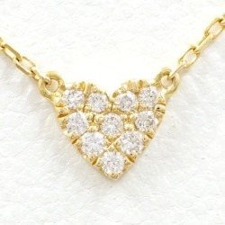 Oh, car K18YG necklace diamond 0.05 used jewelry ★★ giftwrapping is free