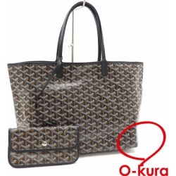 Herringbone herringbone deep-discount exemption from taxation A6023290 with the brown system coating canvas leather AMALOUISPM01 GOYARD porch of ゴヤールトートバッグサンルイ PM Lady's Brown line