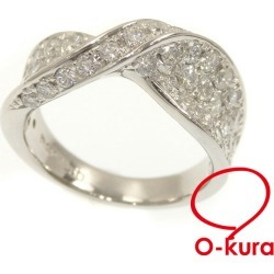 Diamond ring Lady's Pt900 12 1.50ct 10.4 g ring platinum diagram deep-discount pawnshop exemption from taxation A6022772