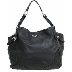 PRADA (Prada) semi-shoulder bag black black leather netshop