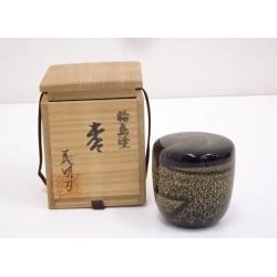 義明造輪島塗沈金鳥図中棗 [tea ceremony / tea set / tea service set / curio / tea / jujube]