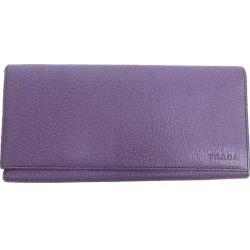 PRADA (Prada) long wallet purple purple leather netshop