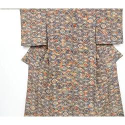 Crepe place printing sinter crest printed cotton design fine pattern kimono sect sou
