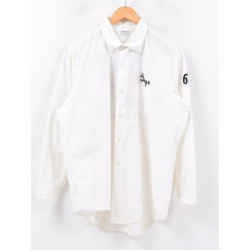 60s WINGS back chain embroidery long sleeves cotton shirt men L vintage /wbd3784