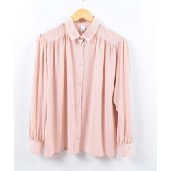 tru blouse puff sleeve long sleeves blouse Lady's L /wbi5935