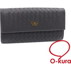 It is butterfly deep-discount exemption from taxation A4028853 for two fold including sad lamb leather 543898 Bottega Veneta leather knitting of ボッテガヴェネタ folio long wallet イントレチャートレディースグレー origin