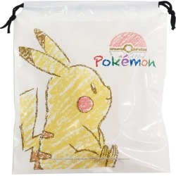 To Pikachu Pocket Monster vinyl drawstring purse Pokemon sun art 30*34*10cm pool bag teens miscellaneous goods mail order marshmallow pop 10/29