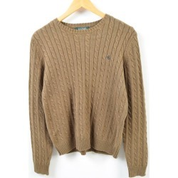 Ralph Lauren Ralph Lauren LAUREN Lauren cable knitting cotton knit sweater Lady's L /wbc8798