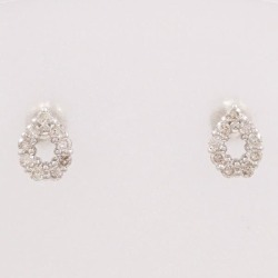 PT900 platinum pierced earrings diamond used jewelry ★★ giftwrapping for free