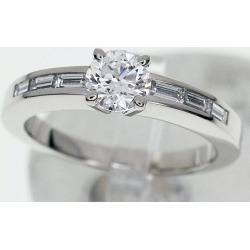 Cartier Cartier diamond (D0.51ct F-VS1-VG) ソリテールデクラシオンダムールリング Pt950 platinum Japan size approximately nine #49 ring Lady's 28240331