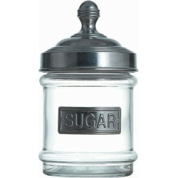 Aluminum cap glass canister 100-030SG SUGAR [outside size: 100 x H200mm capacity: 800 ml] [preservation container] Pretty bottle duties are for kitchen cafe restaurant fashion