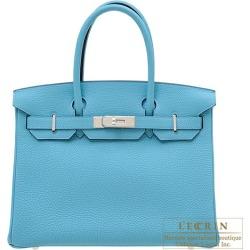 Hermes Birkin bag 30 Blue du nord Togo leather Silver hardware found on Bargain Bro India from Rakuten Global for $19497.00