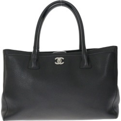 Chanel executive tote bag disassembly porch calf-leather / black / silver /CHANEL ■ 302087 belonging to