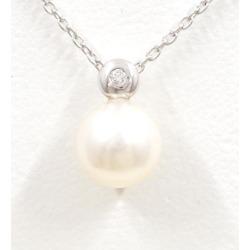Tasaki Shinju K18WG necklace pearl diamond used jewelry ★★ giftwrapping for free