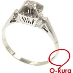 Diamond ring Lady's Pt900 13 0.15ct 3.5 g platinum diagram ring deep-discount pawnshop exemption from taxation A8011251