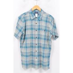 Patagonia Patagonia ORGANIC COTTON organic cotton Madras check short sleeves cotton check shirt men M /wbd2723 made in 14 years