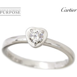 Cartier Cartier Deer man Leger do diamond #48 ring K18WG 18-karat gold white gold 750 heart diagram ring