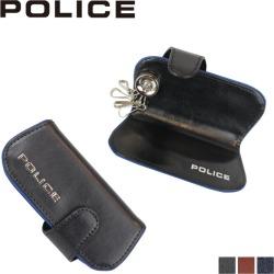 Four POLICE TERAIO KEY CASE police key case key ring men leather black navy dark brown black PA-58003 [7/30 Shinnyu load]
