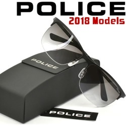 Frameless type black PL746J-0531 of the sunglasses frame latest for police 2,018 years