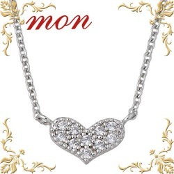mon necklace Lady's heart silver 925 cubic accessories petit necklace present gift fashion popularity Mother's Day MN13