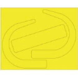 Safety Belt Use Check Sticker Large Fluorescent Yellow 33524y Unit found on Bargain Bro India from Rakuten Global for $1.00