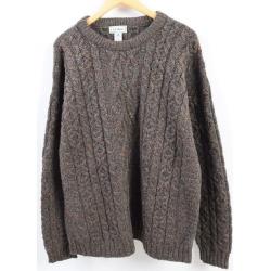 Men XL vintage /wbh9446 in the 80s made in L.L. Bean L.L.Bean color NEP fisherman alane knit sweater Ireland
