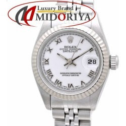Rolex ROLEX 69174 date just white long novel T turn Lady's self-winding watch /36254 watch