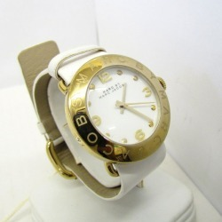 MARC BY MARC JACOBS mark by mark Jacobs watch analog quartz MBM1150 Amy gold white clockface white logo round face stainless steel leather belt Lady's Higashiosaka store 352892 RY1703